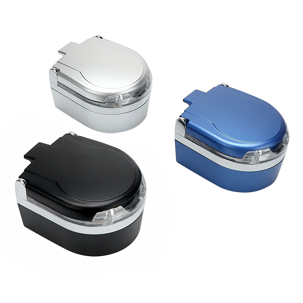 Portable Cigar Ash Tray LED Car Ashtray Car styling Smoke Cup Holder Smoke Ash Cylinder Storage Cup Garbage Container