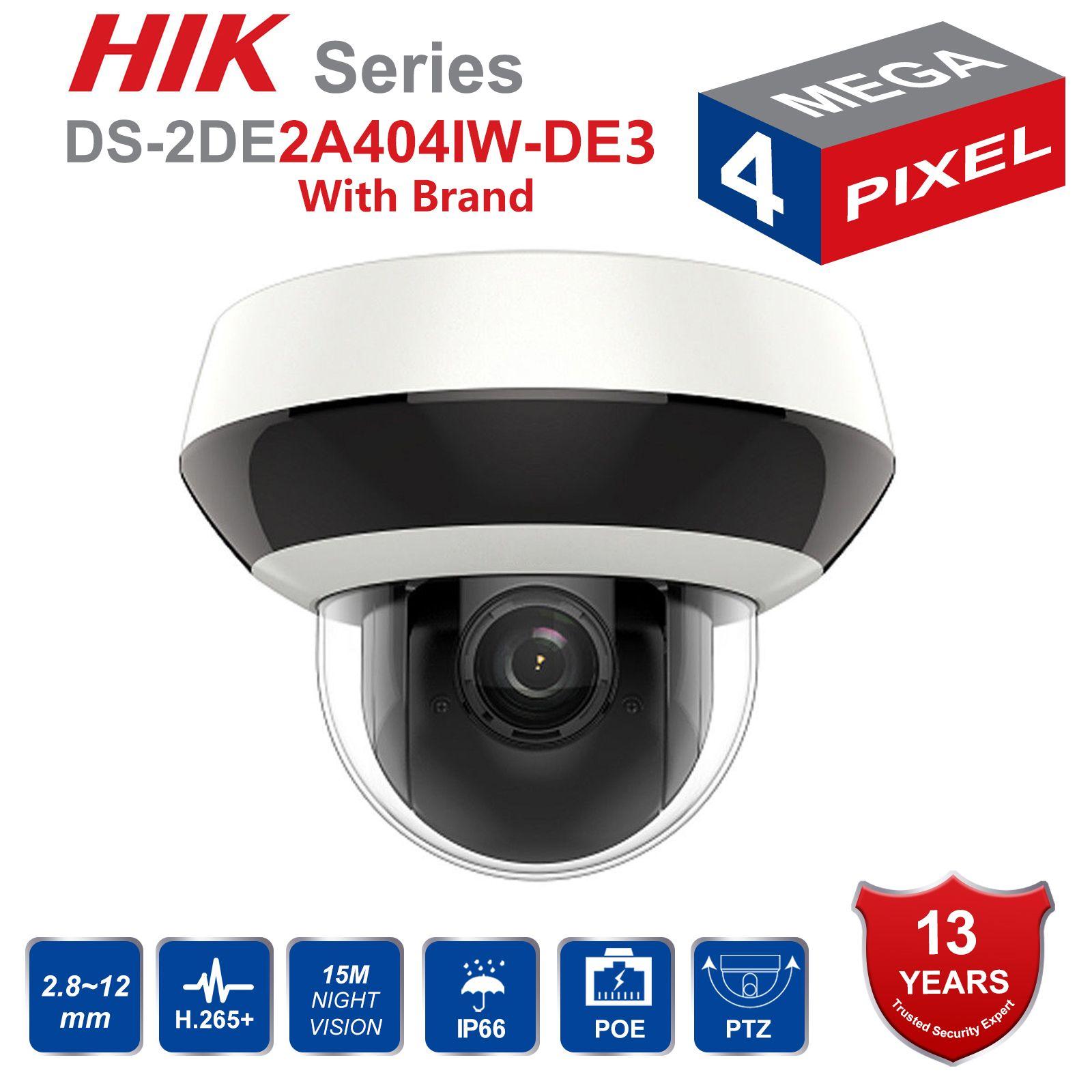 Hik PTZ IP Kamera H.265 DS-2DE2A404IW-DE3 4MP 4X Zoom 2,8-12mm objektiv Netzwerk Video Überwachung POE Dome CCTV kamera Audio