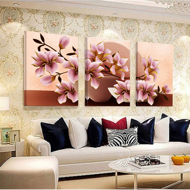 Pictures Canvas Painting Home Decoration Pictures Wall Pictures For Living Room Modular Orchid Wall Painting Flower No Frame
