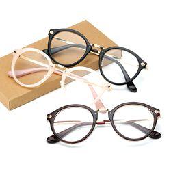 Lucu Vintage Pria Wanita Kacamata Bulat Bingkai Batal Kacamata Rim Penuh Kacamata Optik