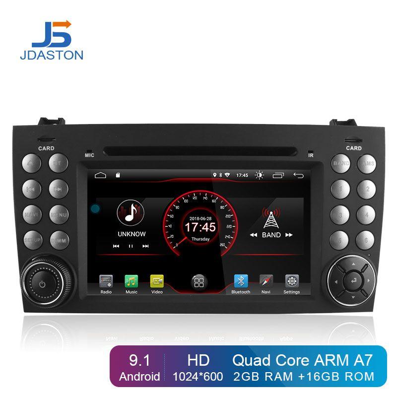 JDASTON Android 9.1 In Dash 2 Din Auto DVD Player Für Mercedes Benz SLK R171 SLK230 W171 Auto GPS Radio Audio multimedia Stereo
