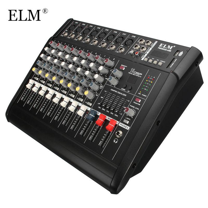 ULME Professionelle Karaoke Audio Sound Mixer 8 Kanal Mikrofon Mischverstärker Konsole Mit USB Eingebauten 48 V Phantomspeisung
