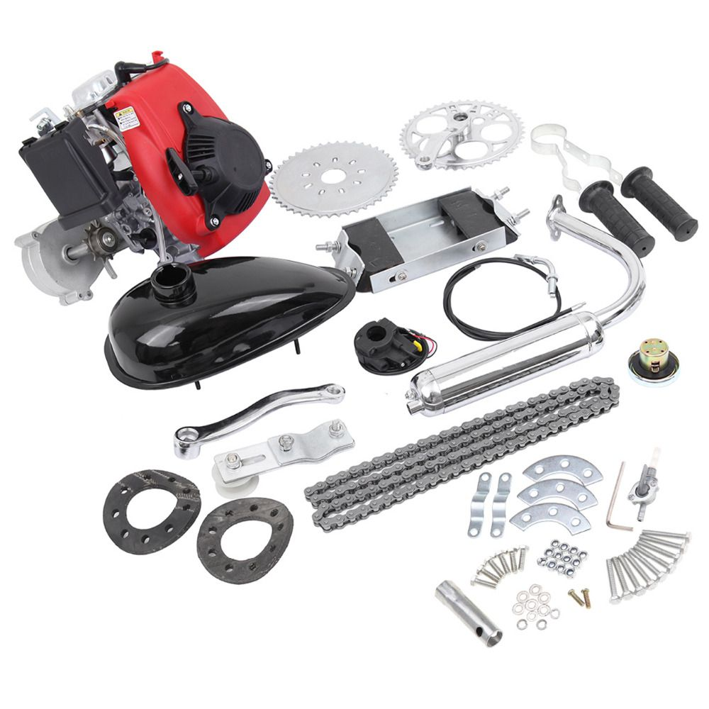 4-Stroke 49CC Gas Petrol Motorized Bicycle Motor Engine Bicycle Motorized Kit For Bike 26