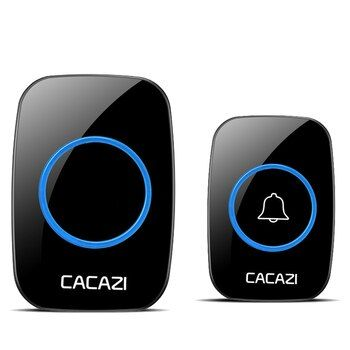 CACAZI newest AC 100-240V Waterproof Wireless Doorbell 38 rings 3 volume door chime 300M remote digital door bell EU/US/UK plug