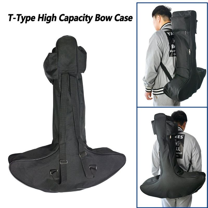 Archery Lightweight Canvas T-Type Bow Case Archery Hunting Crossbow Bag