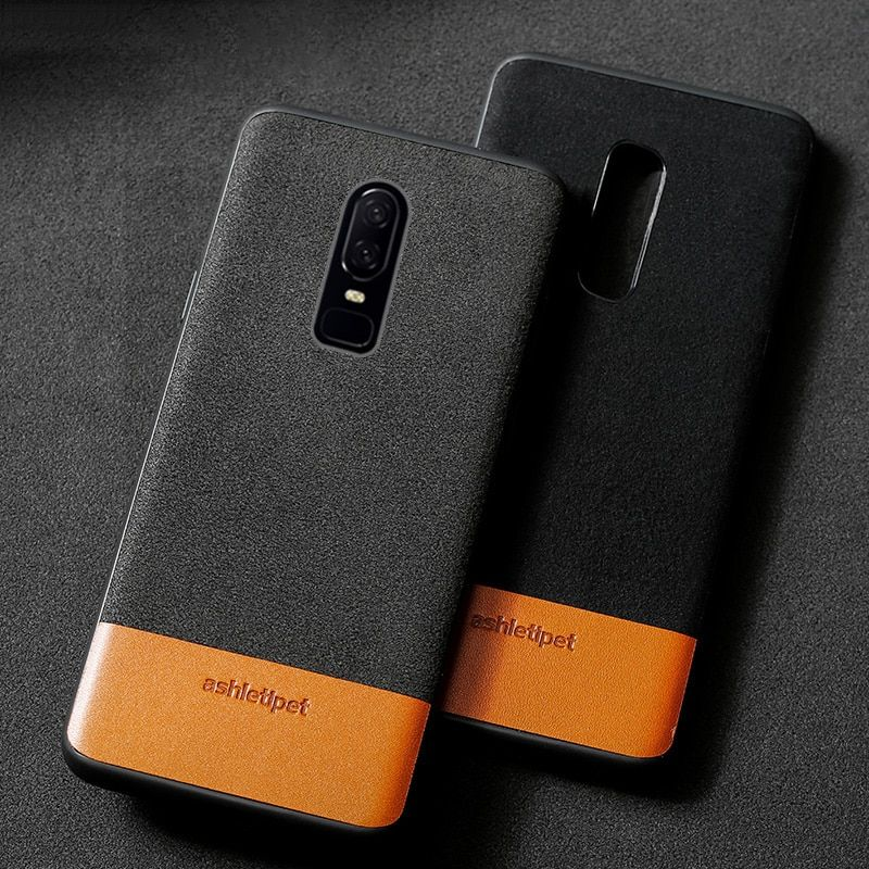 Coque de téléphone en cuir véritable en daim de vache pour oneplus 7 Pro bord en silicone antichoc 1 + 6 t couvercle original one plus 6 6 t 5 t 7Pro