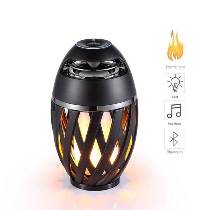Bluetooth Lautsprecher USB Led Flamme Lichter Outdoor Tragbare Led Flamme Atmosphäre Lampe Stereo Lautsprecher Outdoor Camping Woofer Mini