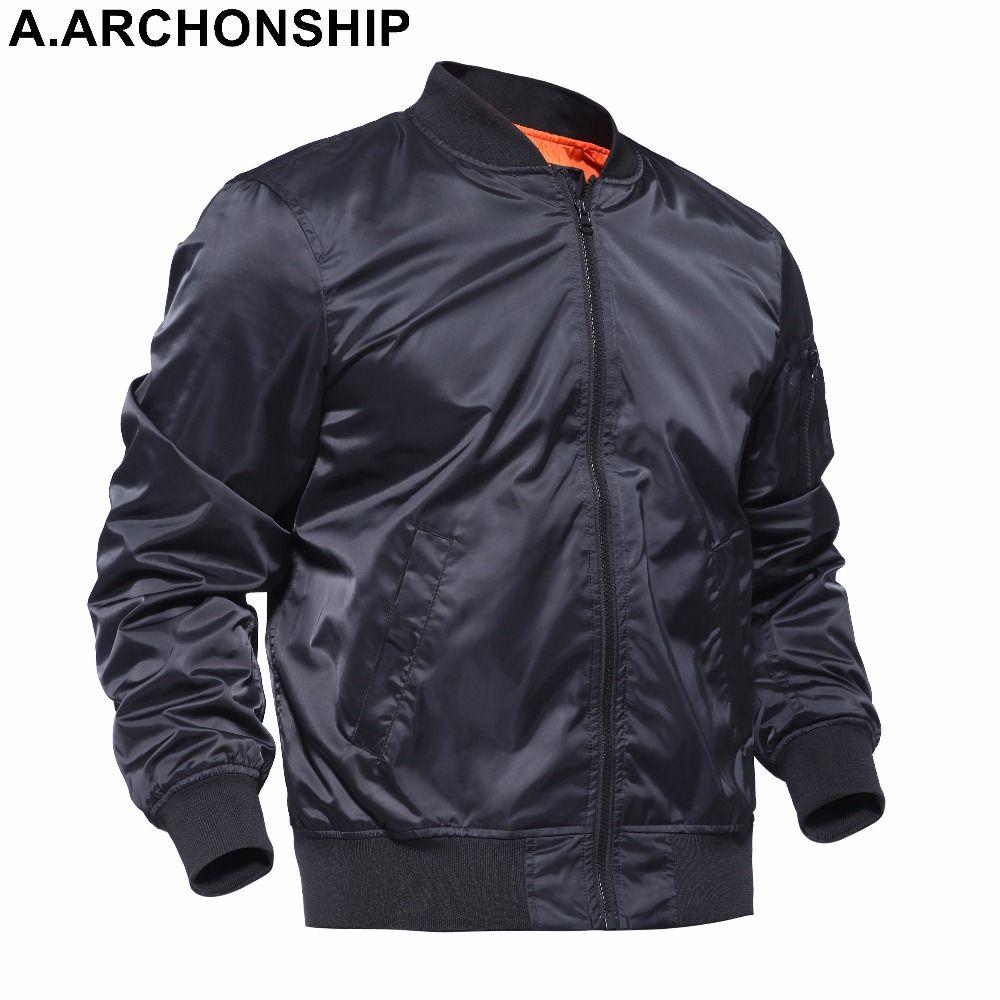 Brand 2017 Black Thin MA1 Autumn Summer Men's Bomber Flight jacket Air Force Baseball Military Outwear hip hop coats streetwear
