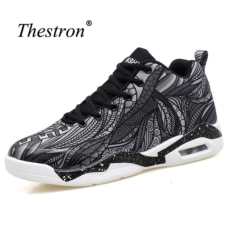 Thestron Basketball Shoes For Women Colorful Sport Shoes Men Basketball New Mens Training Shoes Big Size Mens Sport Basketball