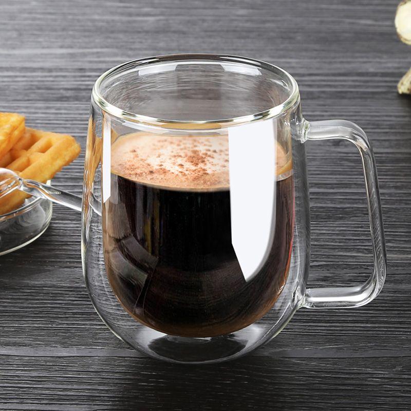Shillytea 250 ml tasses à café saines faites à la main tasses à café Double paroi tasses résistantes à la chaleur thermique isolé créatif