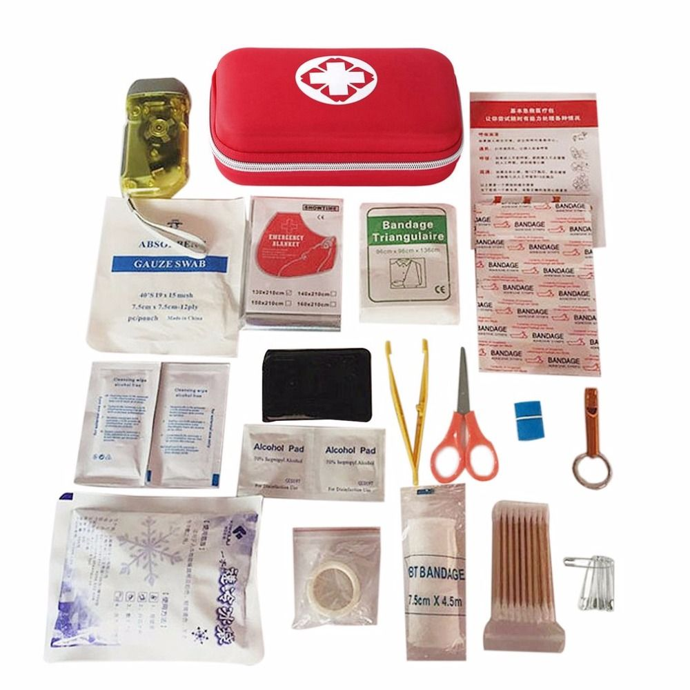 Multifunctional Portable 18 pcs Fully Equipped Travel First-aid Kit Waterproof Durable Household Emergency Bag Emergency Kits