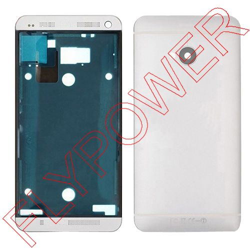 100% warranty Complete Full Housing Front Faceplate Cover+Back Battery Door Case For HTC One M7 801e 801s 801n By Free Shipping