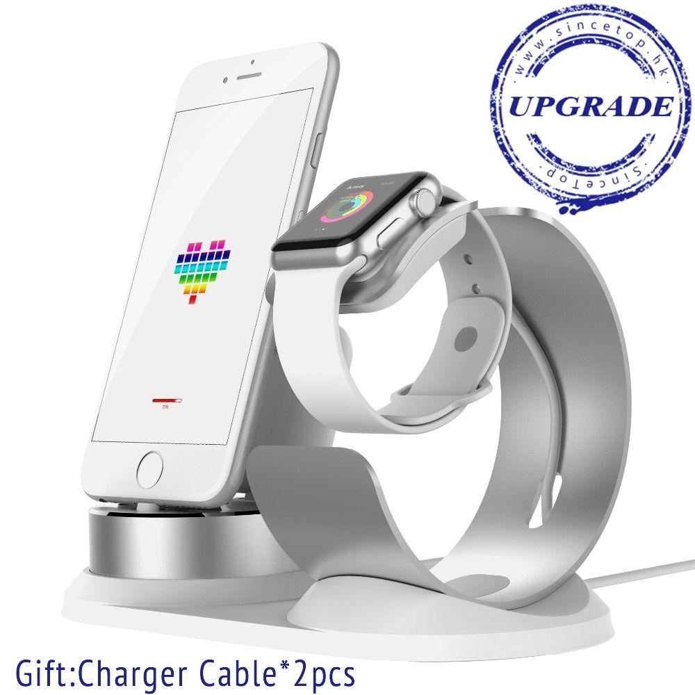 Pour Apple Montre stand, 4 dans 1 support de charge frais de soutien de base pour iPhone X 8 76 Plus SE support de téléphone de bureau Charging Dock station