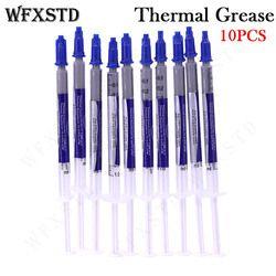 WFXSTD 10 шт. новая термальная смазка Соединение силиконовый скребок процессор радиатора Охлаждение ГПУ силиконовый кулер термопаста