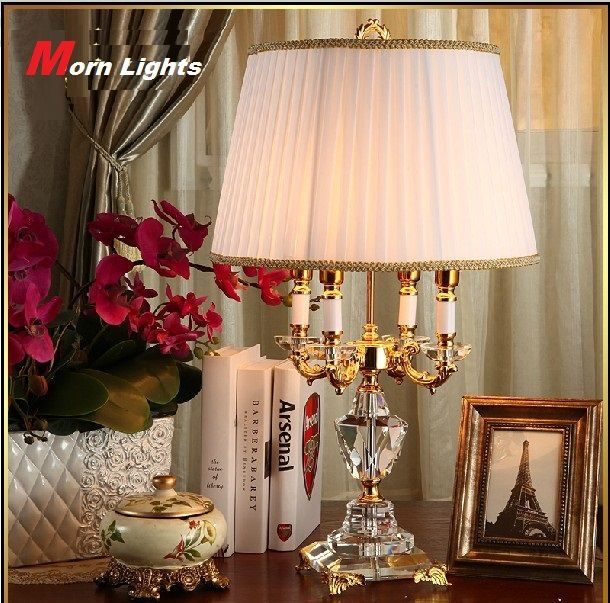 Modern Crystal Lamp lighting bedroom bedside lamp luxury fashion crystal table lamp Abajur