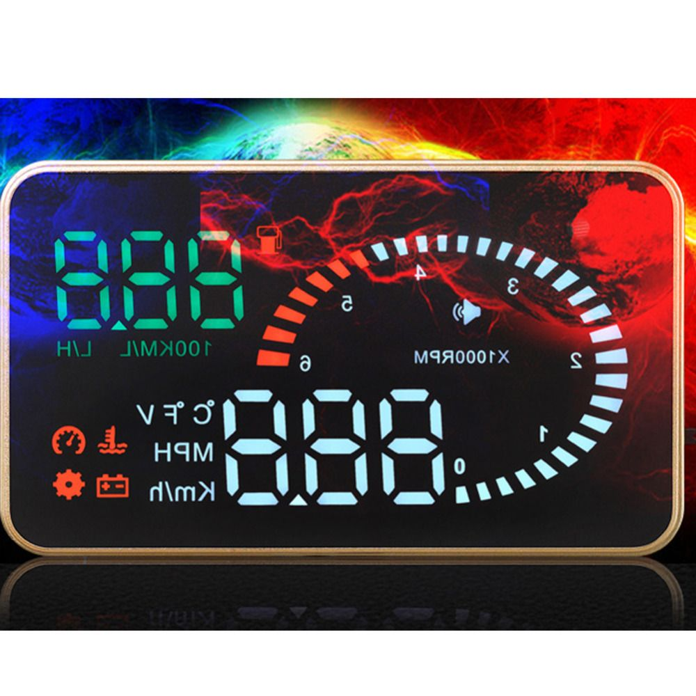 Universal X6 EM327 3 Inch Car HUD Head Up Display with Overspeed Warning System Projector Windshield 12V OBD2 EUOBD Interface
