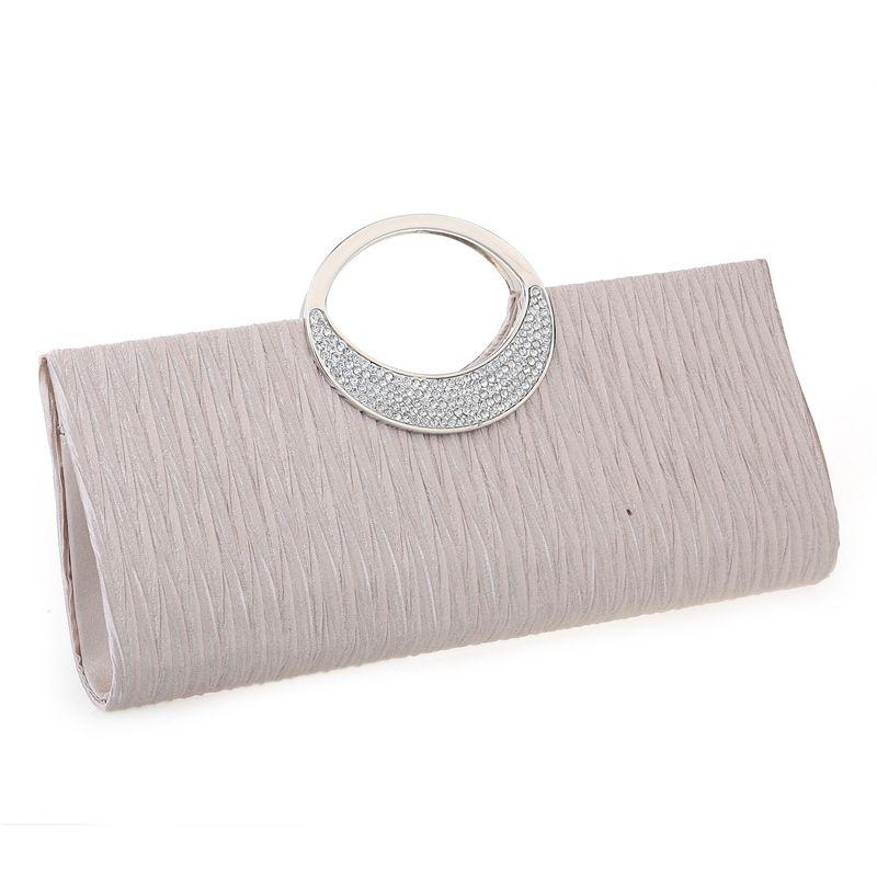 Pochettes de soirée de luxe mode strass Satin plissé femmes sac de soirée de mariage sac à main embrayage sac à main bolsos mujer