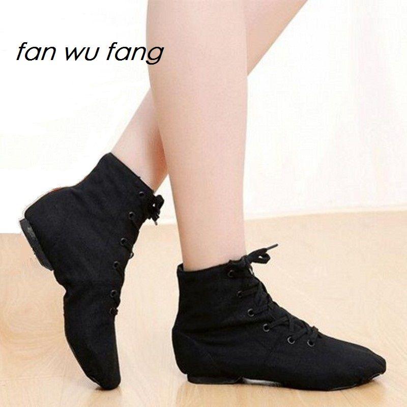 Fan wu fang 2017 nouvelles baskets de danse sportive chaussures de danse Jazz à lacets semelle souple haut de gamme hommes femmes enfants noir blanc bleu rouge