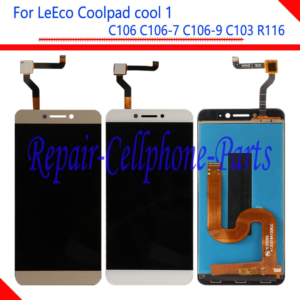New Full LCD DIsplay + Touch Screen Digitizer Assembly For LeTV LeEco <font><b>Coolpad</b></font> Cool1 Cool 1 C106 C106-7 C106-9 C103 R116