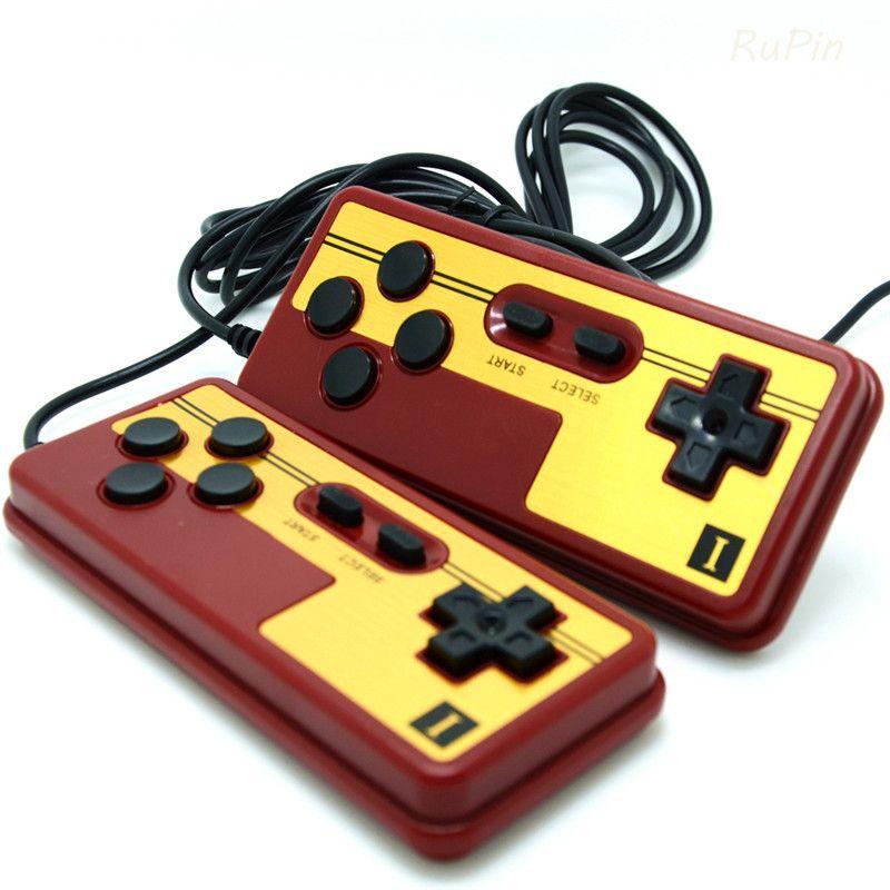 2 stücke usb nes gamepad 9 polige buchse griff controller gamepads leitungslänge 1,8 meter