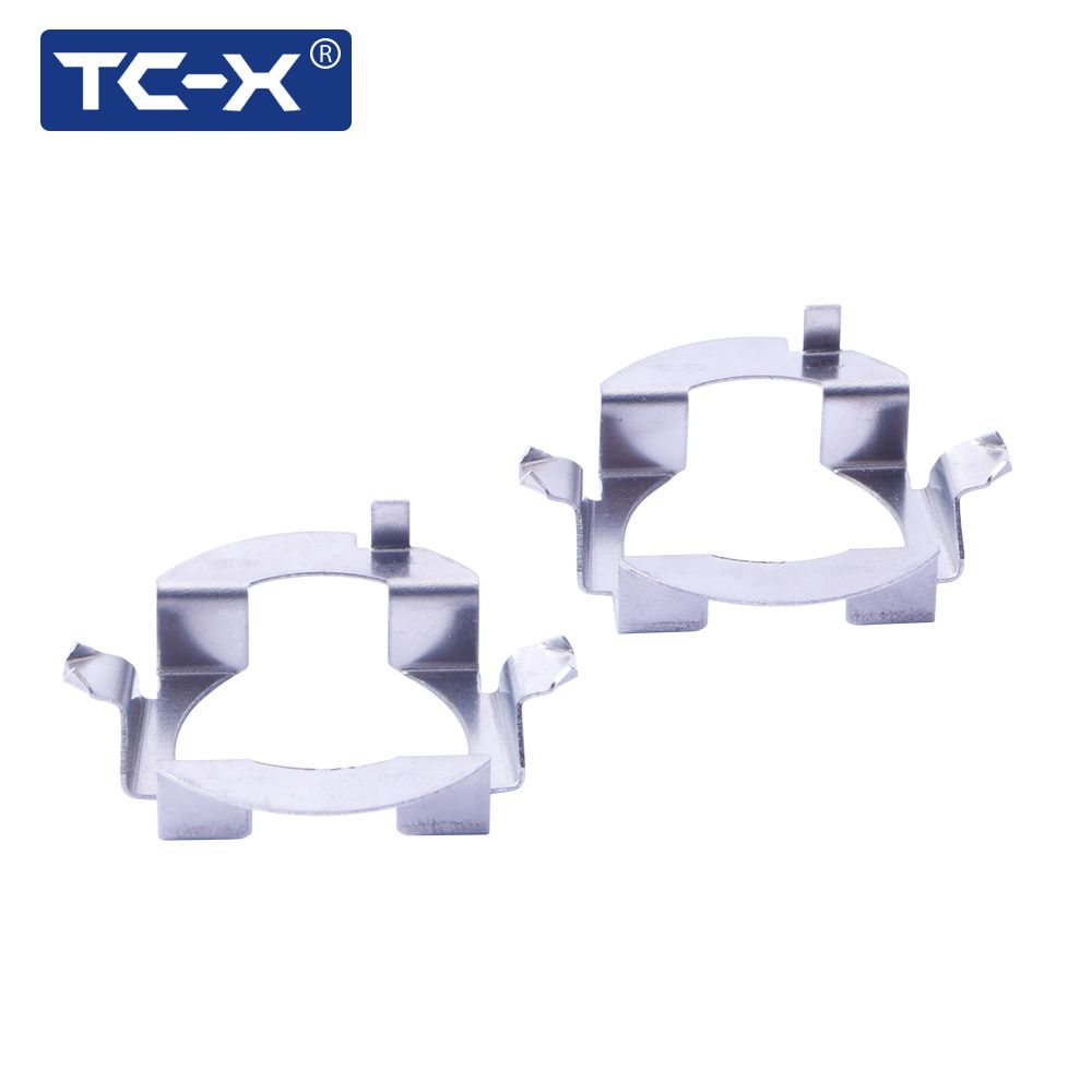 TC-X 1 Pair H7 Adapter For Benz B ML Class H7 LED Metal Clip Retainer H7 Adapter Base For Opel For Volkswagen Touareg