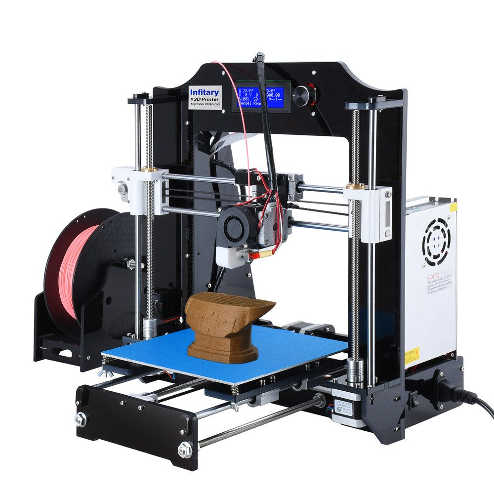 High Quality Infitary M508 3d printer Electronic Kit with 60 Meters PLA Filaments Original Arduino Mega2560 Firmware 3d Printer