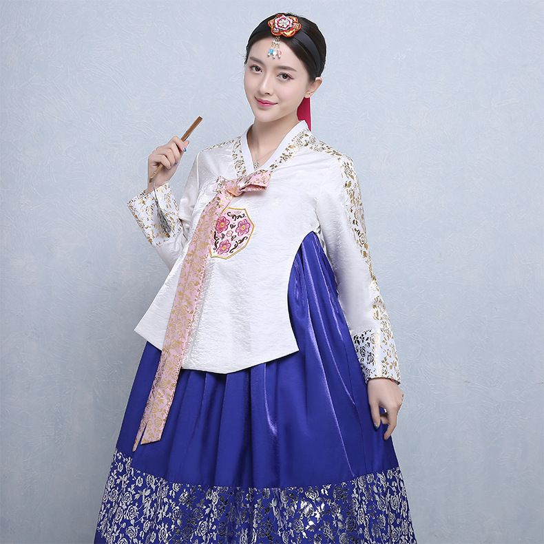 Korean Traditional Clothing Female Elegant Hanbok High Quality Vintage Ladies Hanbok Korean National Costume Stage Performance