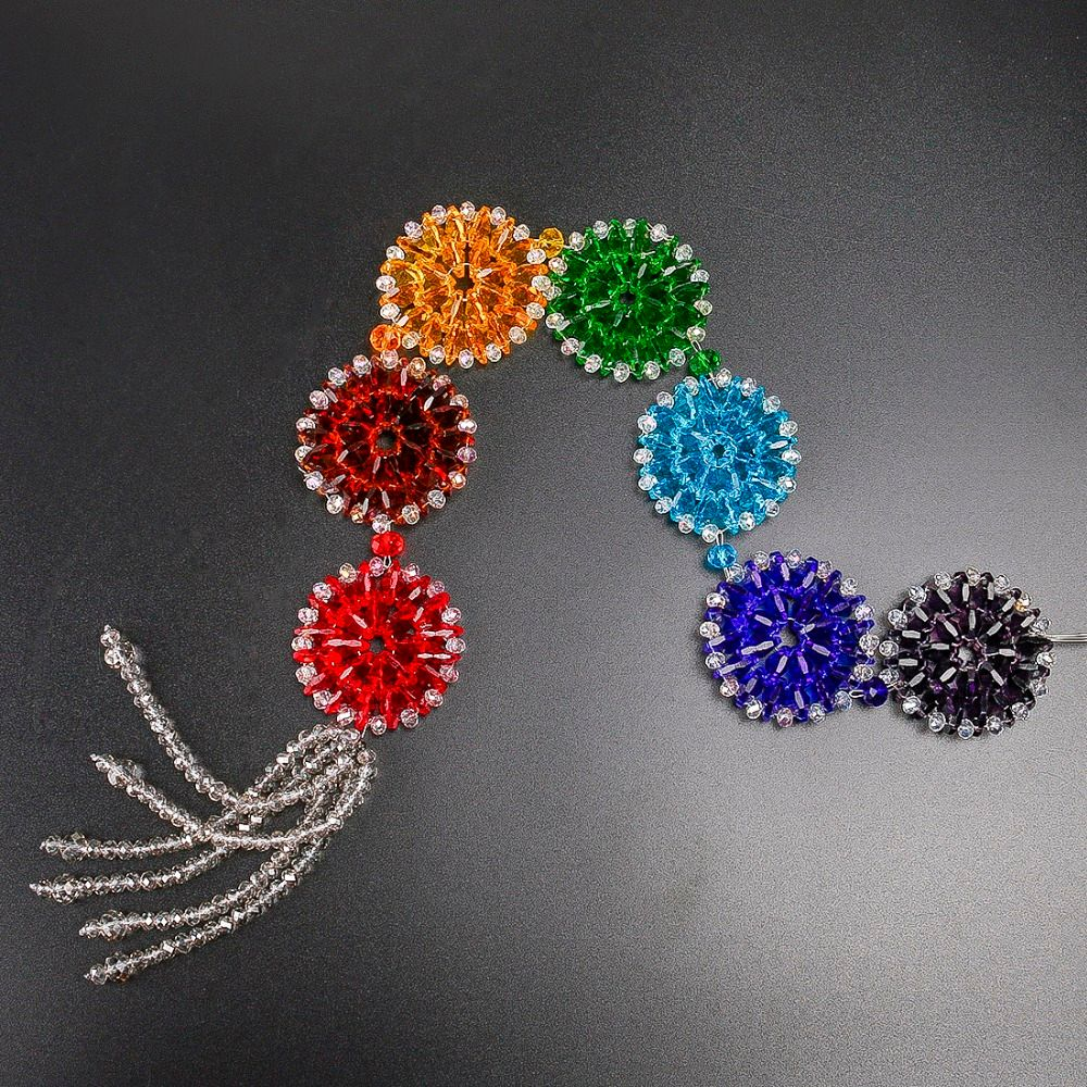 H&D Crystal Rainbow Chakra Muladhar Dream Catcher Octagonal Pendants Wall Hanging Decoration Ornament Fengshui Home Party Decor