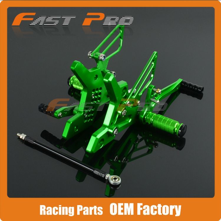 CNC Motorcycle Adjustable Billet Foot Pegs Pedals Rest For KAWASAKI Z750 Z 750 2004 2005 2006