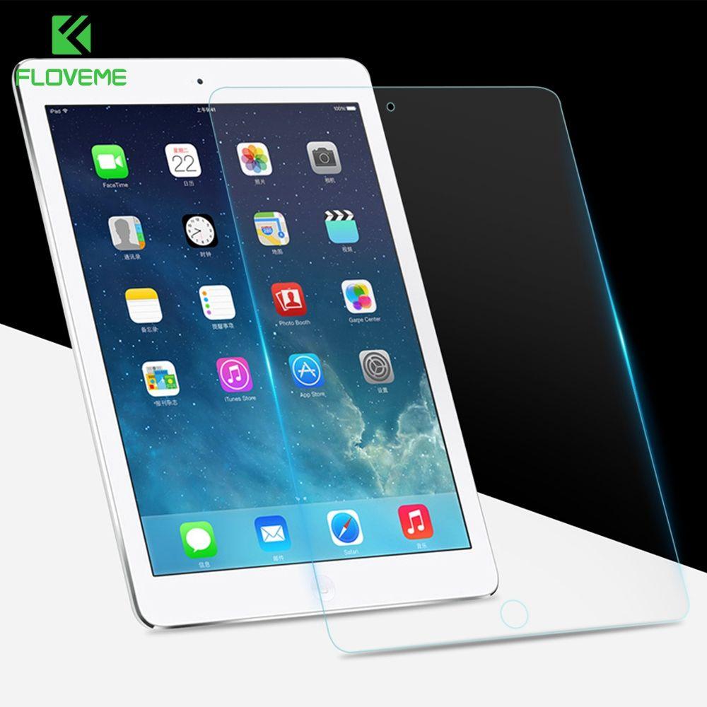 FLOVEME Trempé Verre Pour iPad 2017 9.7 nouvelle Version 9 H Dur Film Protecteur D'écran Pour iPad 2017 Verre 9.7 pouce Modèle Film