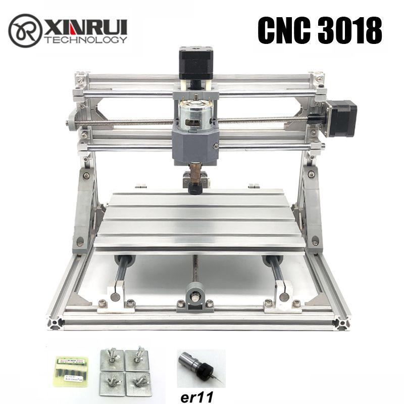 CNC 3018 ER11 GRBL contrôle bricolage CNC machine, 3 axes pcb fraiseuse, bois routeur laser gravure, meilleurs jouets