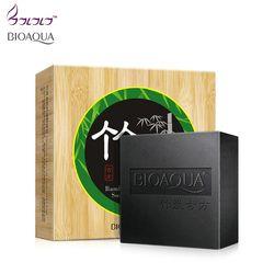 BIOAQUA carbón de bambú jabón hecho a mano para blanquear la piel jabón blackhead remover acné tratamiento facial cuidado del cabello cuidado de la piel Baño