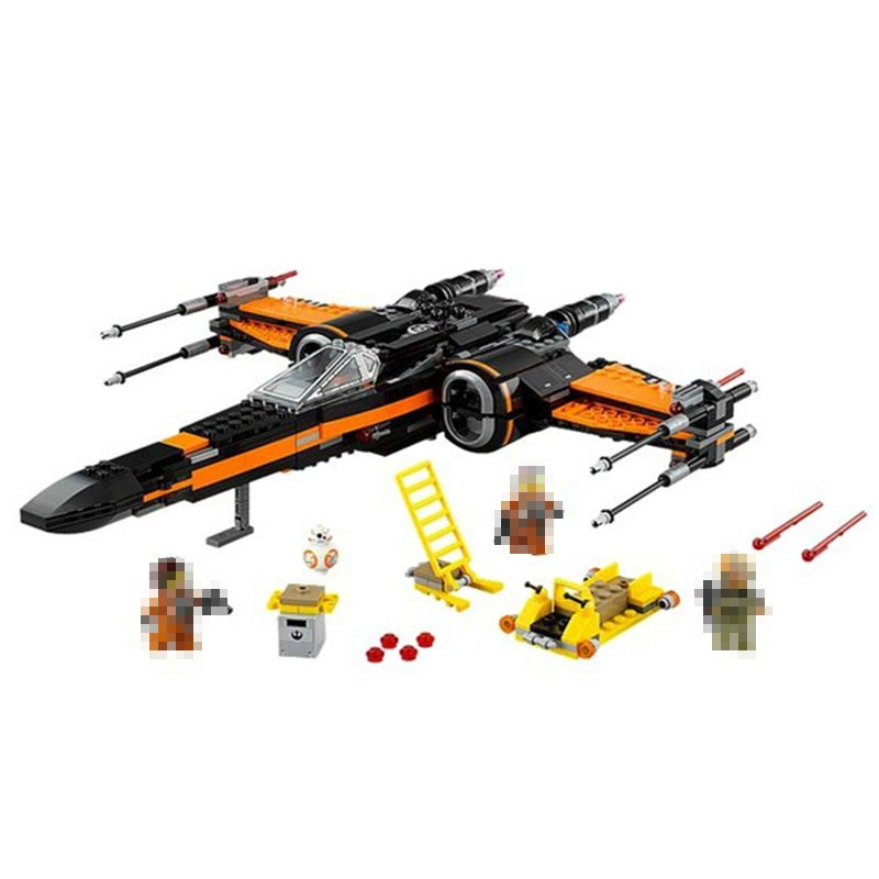 748Pcs Poe's X-wing Fighter Star Building Blocks Fighter Assembled Fighter Compatible 75102 Star wars X Wing Toys For Children