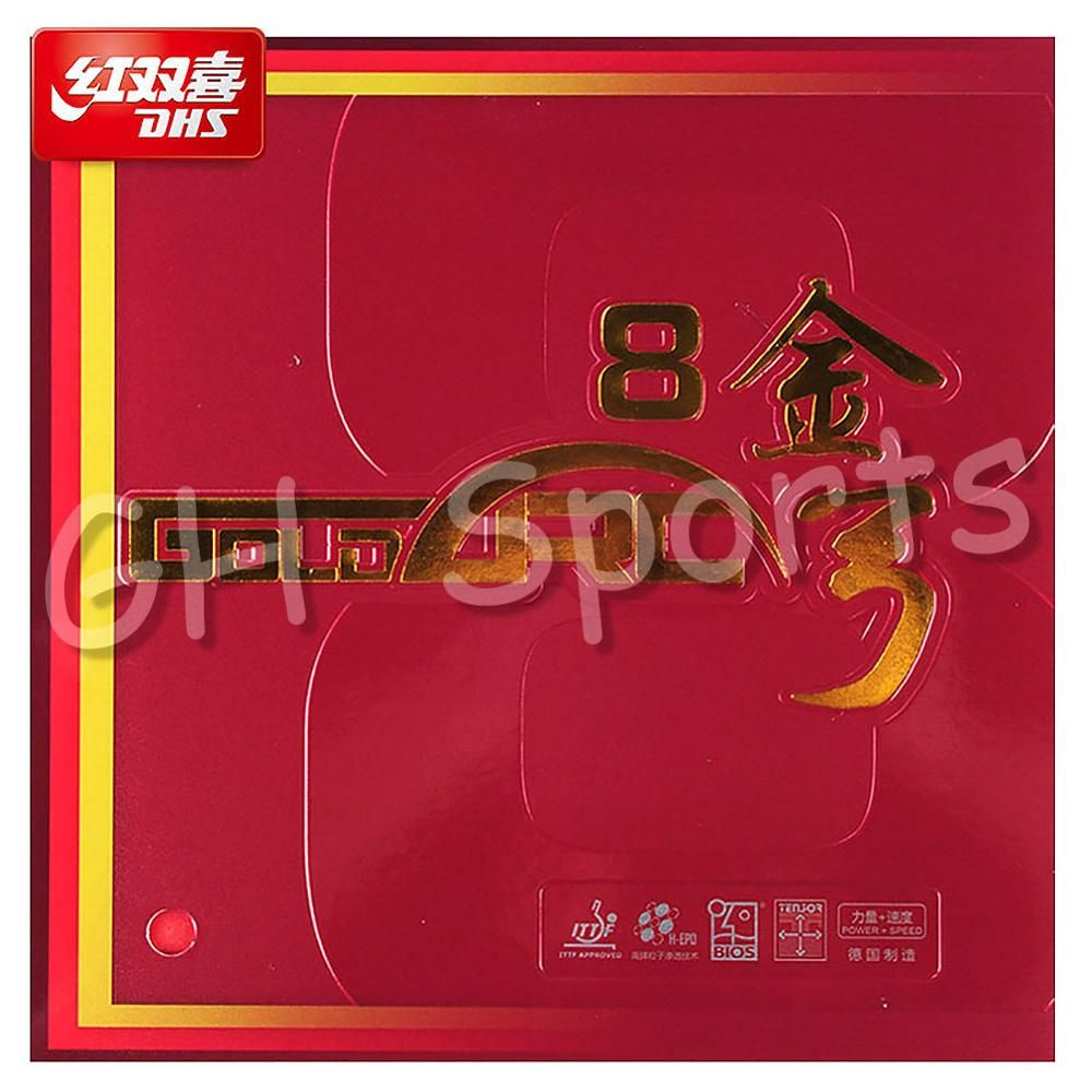 DHS GOLDARC 8 GoldArc VIII made in Germany Pips in Table Tennis Ping Pong Rubber with Sponge