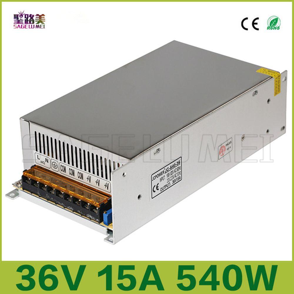 Beste preis freies verschiffen DC36V 15A 540 Watt Universal Geregelt Schaltnetzteil Led-beleuchtung Transformatoren für CCTV Led Radio