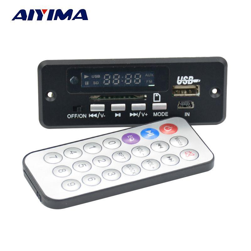 Aiyima 5 В Bluetooth MP3 аудио декодер доска с 3 Вт * 2 усилитель Радио AUX зарядки Hands-Free вызова отличный звуки