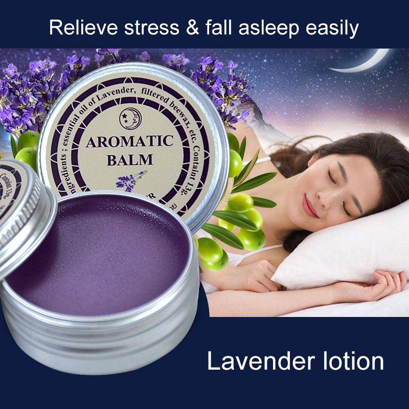 Lavendel Aromatischen Balsam Helfen Schlaf Beruhigende Creme Ätherisches Öl Rebound-schlaflosigkeit Pflege SSwell