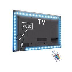 2835 SMD RGB USB зарядное устройство Светодиодная лента DC 5 В usb-кабель светодиодный светильник гибкая лента 1 м 2 м 3 м 4 м 5 м RF IR RGB пульт дистанционно...