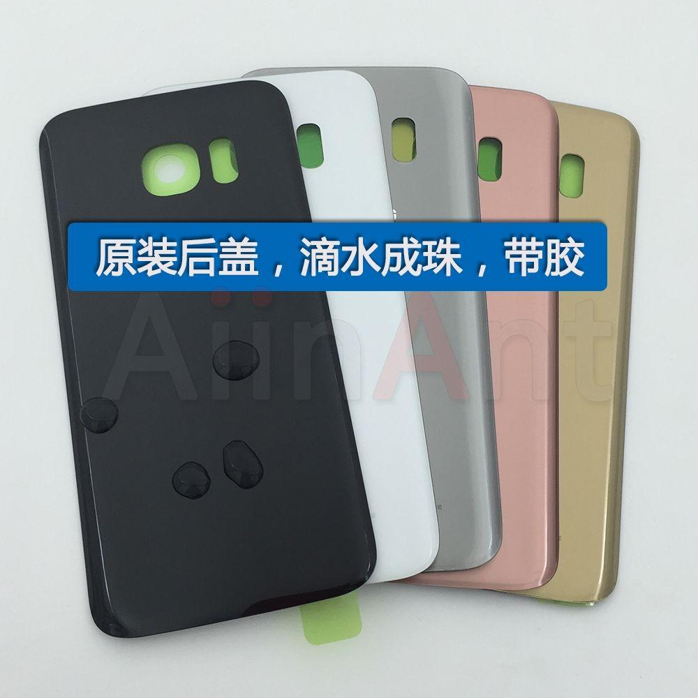 Rear Back Housing Battery Glass Case Door Cover For Samsung Galasy S7 G930 G930F S7 Edge G9350 G935f with Sticker Original