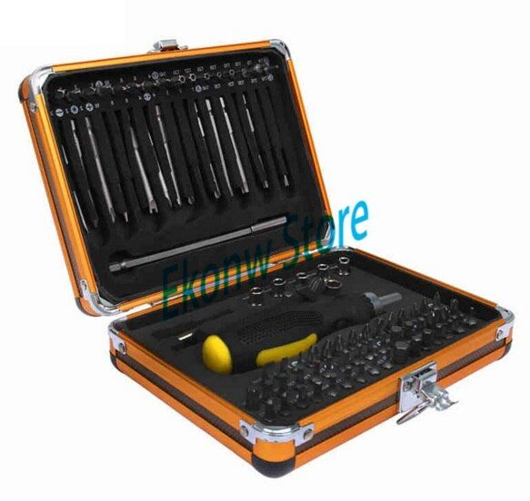 92 In1 Tool Box Multi-function screwdriver set ratchet wrench socket Household Electrical maintenance tools