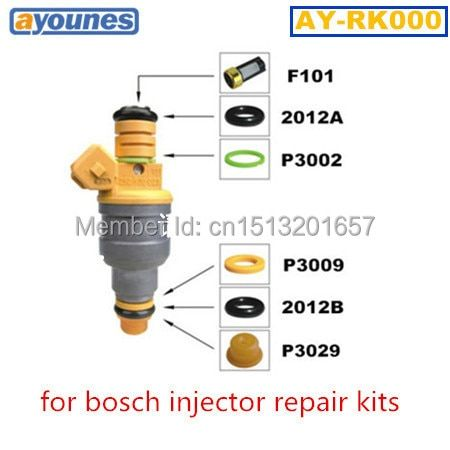 AY-RK000 40pcs/bag auto parts  fuel injector  repair kit  service kits fit for bosc* universal type free shipping