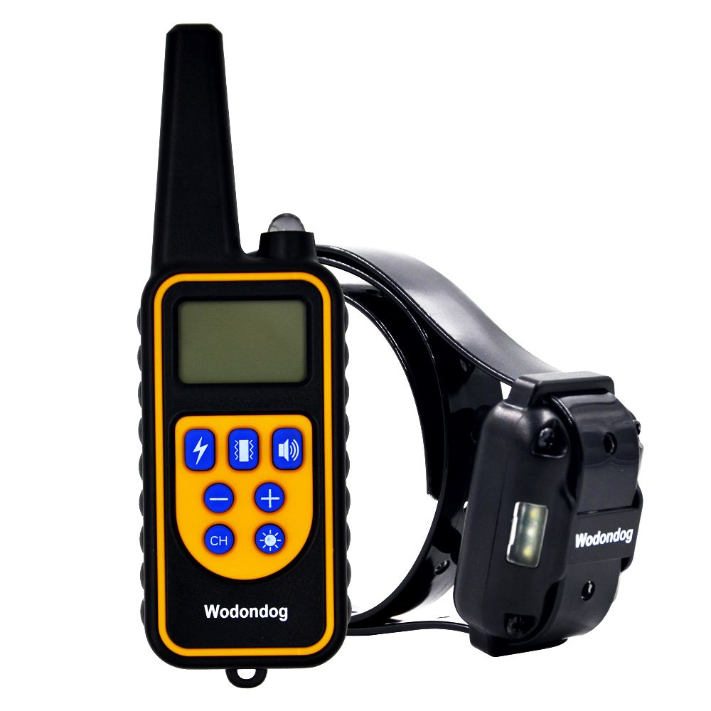 pet dog training collar electric shock collar for dogs IP7 diving waterproof remote control dog device <font><b>charging</b></font> LCD Display