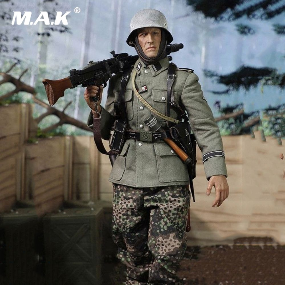 D80130 1/6 Scale DID WWII German Army Panzer SS-PANZER-DIYISION DAS REICH MG42 Guner Figure Display Full Set Action Figure Model