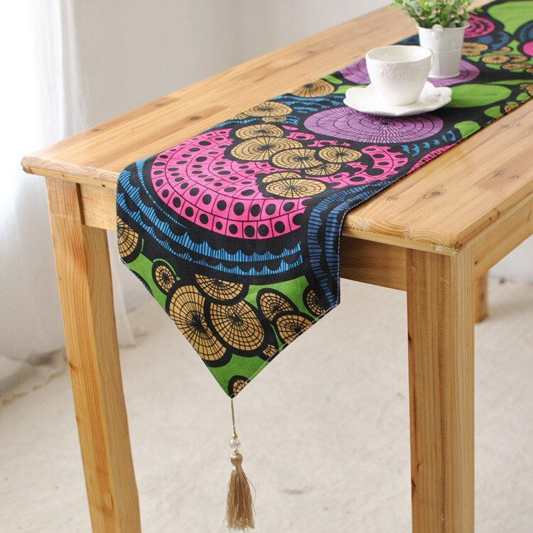 European luxury high-grade cotton canvas gift cabinet's Nordic neoclassical bed flag manufacturers table runners