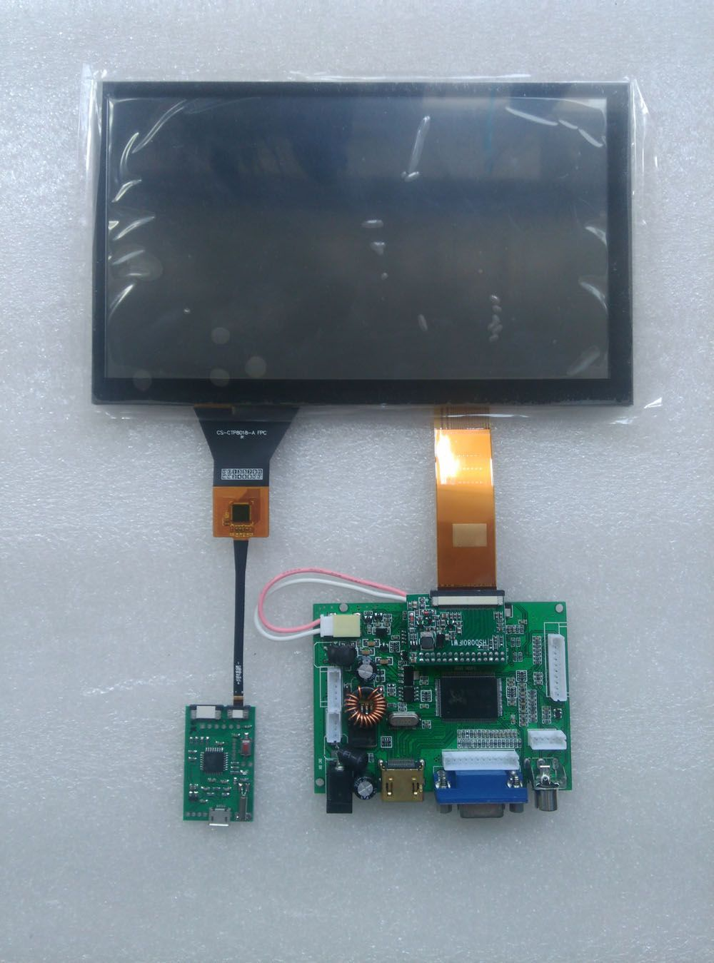 CARPC Kit 8' 1024 600 LCD High Brightness WIN7 WIN8 WIN10 Android Capacitive Touch Screen HDMI+VGA+2AV Reversing The Priority
