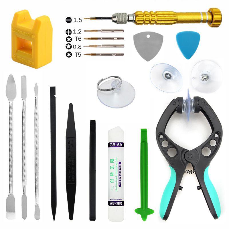 Uanme 20 в 1 телефон ремонт Инструменты комплект Spudger Прай разобрать открытие инструмент Отвёртки Набор для iPhone Планшеты ПК ремонта инструменты