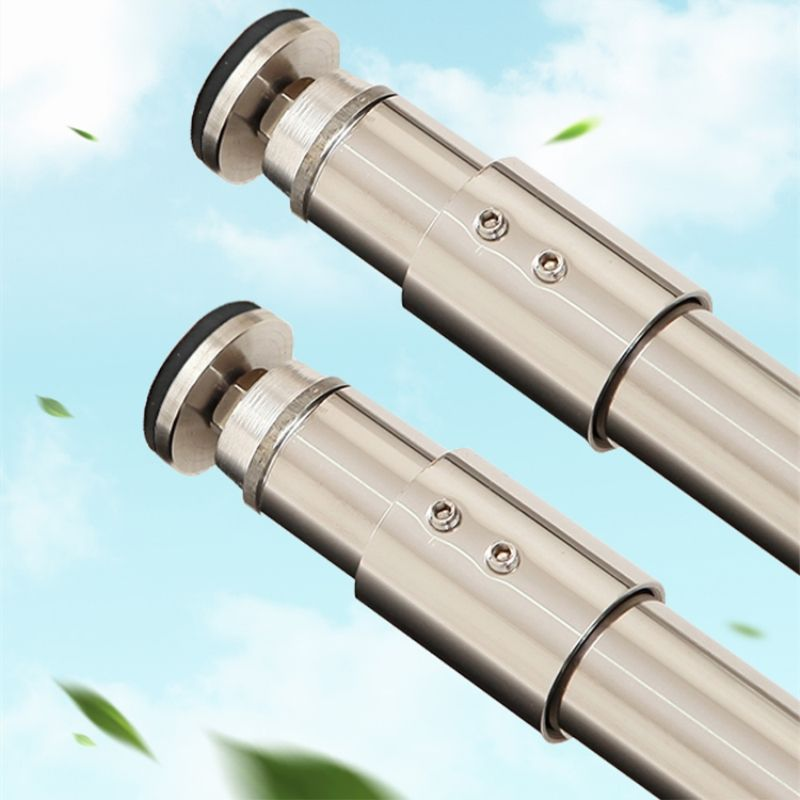 304 Stainless Steel Bathroom Shower Curtain Poles Telescopic Rod Super Heavy Load-bearing Clothesline Pole