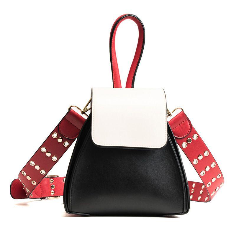 2018 Luxury Brand Designer Trapezoid Bucket Bag Women Leather Long Strap Shoulder Handbag <font><b>Sweet</b></font> Wide Strap Ladies Messenger Bag