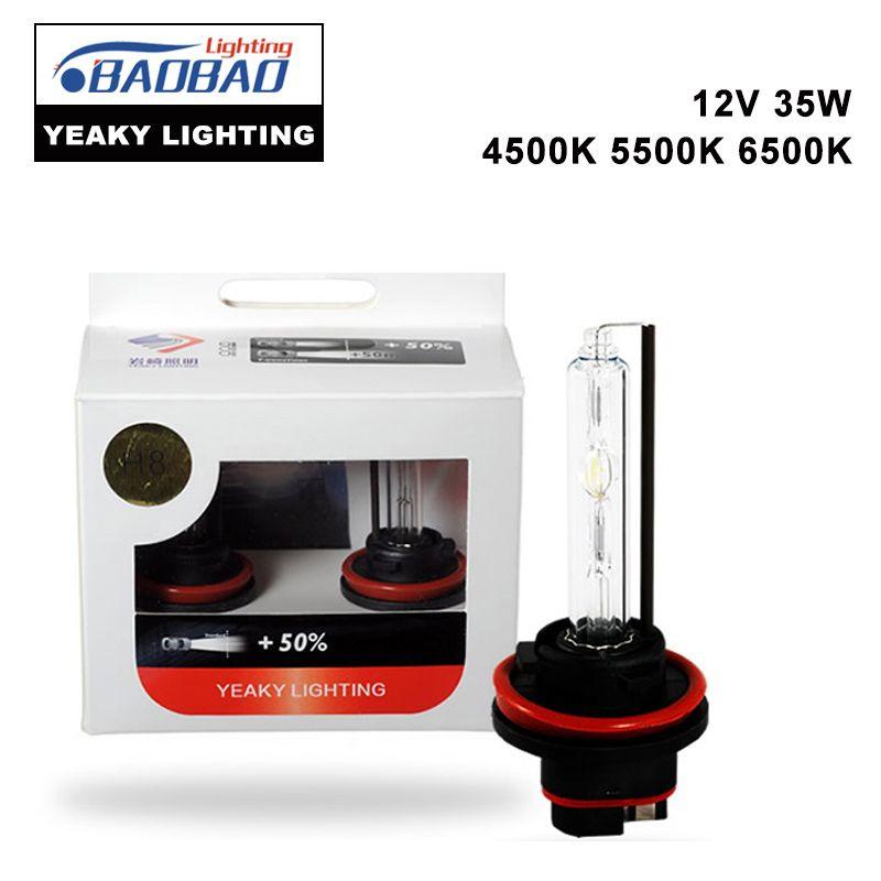 BAOBAO H7 Original YEAKY Ultra Bright HID Car Headlight Bulb 35W 4500K 5500K 6500K H1 H3 H8 H11 9005 9006 Car Styling