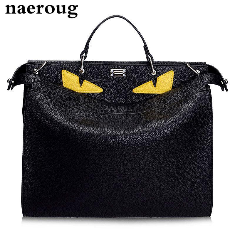 Neue Luxus Handtaschen Frauen Taschen Designer Große Monster Taschen Marke männer Frauen Aus Echtem Leder Totes Famous herren Laptop Taschen 3 größe